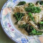 Lemon Pepper Linguini with Olive Oil, Garlic, and Broccoli Rabe…With a Touch of Red Pepper