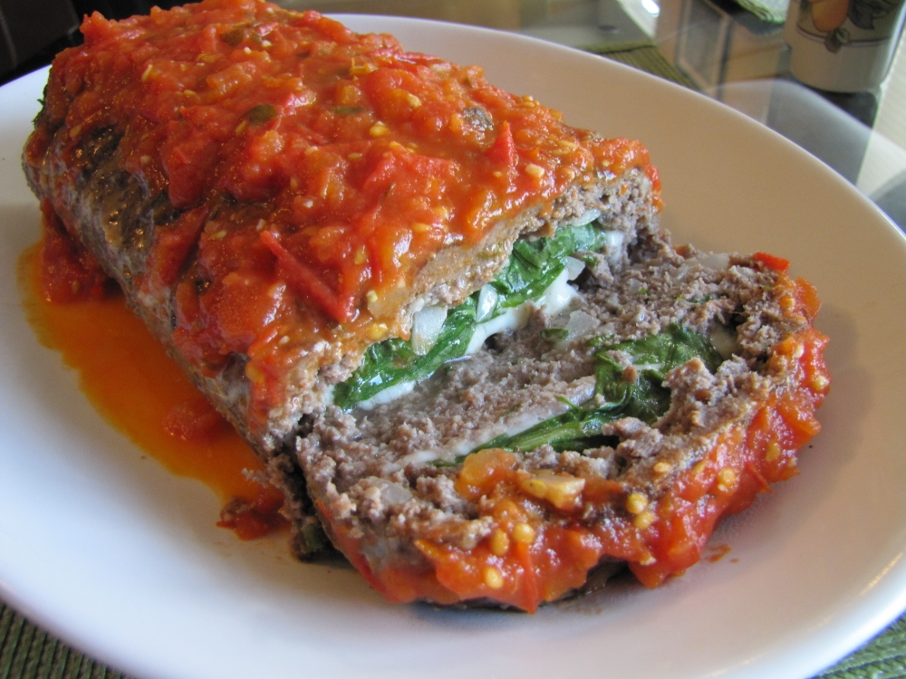 Rolled Italian Meatloaf…With Spinach, Mozzarella, and ...