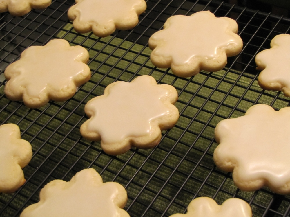 Cream Cheese Sugar Cookies with Lemon Sugar Icing