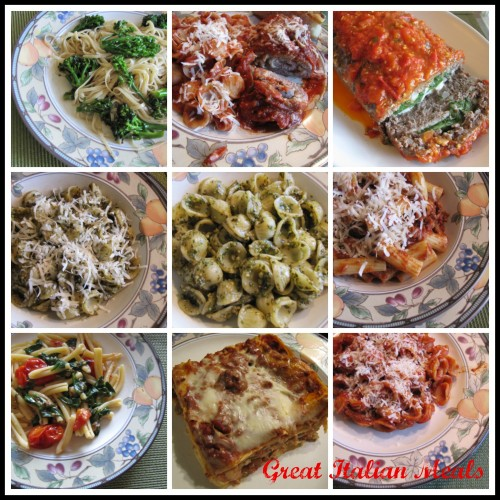 Great Italian Meals 2 PicMonkey Collage