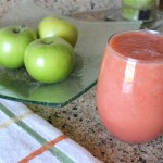 Strawberry Apple Grapefruit Smoothie with Ginger