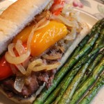 Grilled Steak Sandwiches with Sweet Peppers and Onions