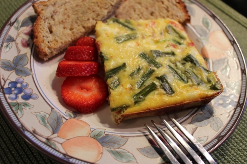 asparagus ham and cheese asparagus frittata baked asparagus and ham my ...