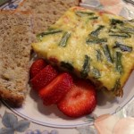 Ham, Asparagus, and Goat Cheese Frittata with Sun-Dried Tomatoes