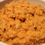 Mashed Sweet Potatoes with Walnuts