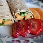 Prosciutto, Cantaloupe, and Veggie Wrap with Honey Mustard Vinaigrette