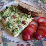 Delicious Chicken Sausage, Broccoli, and Mozzarella Frittata
