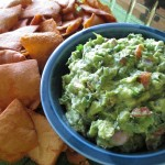 Tasty Guacamole with Sweet Chili Pita Chips