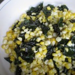 Garlic Butter Kale and Sweet Corn