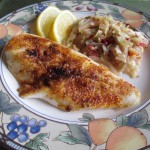 Lemon Butter Orange Roughy with Spicy Lemon Cabbage