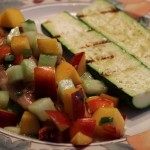 Peach Cucumber Salsa with Grilled Chicken