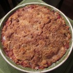 Apple Strawberry Crumb Cobbler