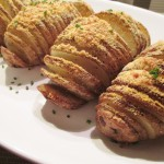 Healthy Parmesan Hasselback Potatoes