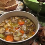 Savory Chicken Mushroom Soup with Great Northern Beans