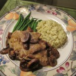 Chicken in White Wine Mushroom Sauce
