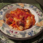 Delicious Jambalaya with Chicken Sausage and Shrimp