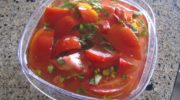 Mom's Italian Tomato Salad…With Basil, Garlic, and Peppers