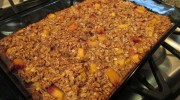 Delicious Baked Oatmeal with Peaches